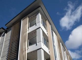 Façade treatment for Ramada Suites Albany, Auckland
